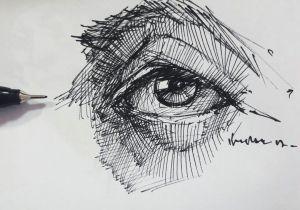 Drawing Eyes Pen Eyedrawing Illustration Portre Dessin Pen Artsy Study Portrait