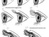 Drawing Eyes Tutorials Step by Step How to Draw Realistic Eyes From the Side Profile View Step by Step