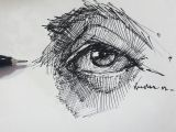 Drawing Eyes with Pen Eyedrawing Illustration Portre Dessin Pen Artsy Study Portrait