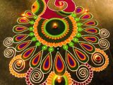 Drawing Flower Rangoli Peacock Pink Library Stuff
