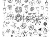 Drawing Flowers Doodling Set Of Flower Doodles by orfeev Via Shutterstock Mei Love