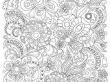 Drawing Flowers Doodling Zentangle Art Coloring Page for Adults Printable Doodle Flowers