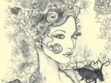 Drawing Flowers In Hair 60 Best Flower Heads Images Paintings Drawings Fantasy