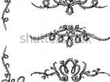 Drawing Flowers On A Vine Vine Roses Set Of Thorny Rose Vines In Hand Drawn Sketch Set