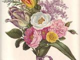 Drawing Flowers On Walls Vintage Flower Print Large Rose Botanical Print Oversized