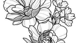 Drawing Flowers Pen and Ink Floral Tattoo Design Drawing Beautifu Simple Flowers Body Art