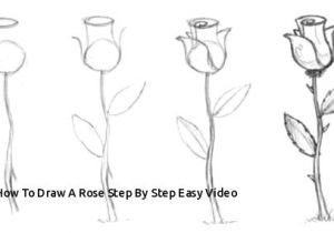 Drawing Flowers Pic How to Draw A Rose Step by Step Easy Video Easy to Draw Rose Luxury