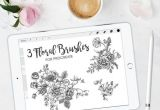 Drawing Flowers Procreate Procreate Floral Brushes Procreate Brushes Flower Brushes Stamp