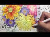 Drawing Flowers Tutorial Youtube Flower Coloring Tutorial 2 Floribunda Coloring Book Colored