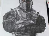 Drawing fortnite Things Black Knight fortnite Drawing 30 X 40 Cm Art In 2019 Drawings