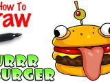 Drawing fortnite Things How to Draw the Durrr Burger fortnite Youtube
