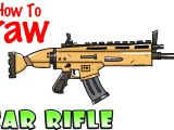 Drawing fortnite Things How to Draw the Scar Rifle fortnite Youtube