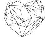 Drawing Geometric Heart Heart Graphic Black On White Canvas Print Nyc Apt Pinterest