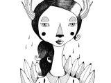 Drawing Girl Deer Mujer Ciervo Drawing Illustration Drawings Art