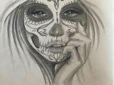 Drawing Girl Gangsta Mask Face Sugar Skull Girl Tattoos Tattoo Illustration Drawings
