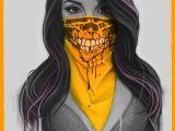 Drawing Girl Mask Skull Girlface Artwork Bandit Mask Digitalpainting Art
