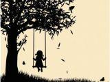 Drawing Girl On Swing Girl On Swing Silhouette Art Inspiration Pinterest Painting