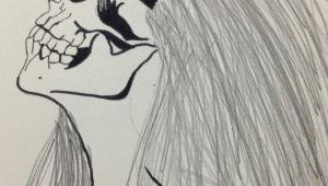 Drawing Girl Photography My Skull Girl Drawing Girl Drawings Drawings Und Skull