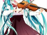 Drawing Girl Playing Violin Hatsune Miku I Absolutely Love the Violin and Seeing A Vocaloid