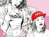 Drawing Girl Power Girl Power Illustration Anajaren Labaribaruska Girlpower