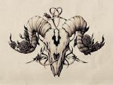 Drawing Goat Skull Ink Pen Skull Drawing On Behance Art Pinterest Tattoos