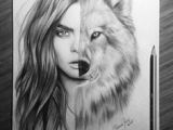 Drawing Half Wolf 89 Best Draw Images Drawings Ariana Grande Drawings Ariana