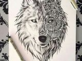 Drawing Half Wolf Wolf Drawing Tattoos and Drawings