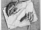 Drawing Hands by Escher Famous Artist Crafts for Kids From the Crafty Classroom Famous Art