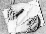 Drawing Hands Escher 1948 Die Pajess Stehen Mir Turmsegler