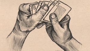 Drawing Hands In Ink Drawing Of Hand Holding Cards 100daysofhands How to Draw Hands