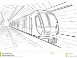 Drawing Hands In Perspective Hand Drawn Sketch Subway Station Stock Vector Illustration Of