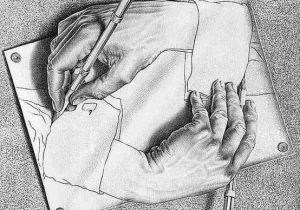 Drawing Hands Mc Drawing Hands Mc Escher Art In the World Around Us In 2018