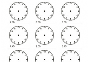 Drawing Hands On Clock Half Past Math Worksheets Telling Time to the Quarter Hour