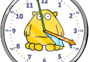 Drawing Hands On Clock Half Past Teaching Children How to Tell the Time Hints and Tips Busy Things
