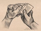 Drawing Hands with Lines Drawing Of Hand Holding Cards 100daysofhands How to Draw Hands