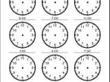 Drawing Hands Worksheet Time Telling Time Analog Clocks 30 Min Small P Students