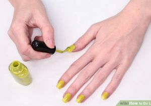 Drawing Heart On Nail 3 Ways to Do Letter Nails Wikihow