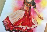 Drawing Ideas Colourful Deepika Padukone Ram Leela Drawing Prismacolors Colouring Pencils