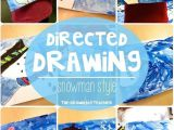 Drawing Ideas for 1st Graders Snowman Directed Drawings First Grade Friends Pinterest
