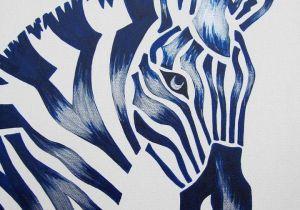 Drawing Ideas for Nursery Class Blue Zebra Safari Nursery Art Zoo Animal Jungle theme Kids Baby