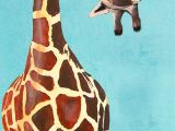 Drawing Ideas Giraffe Animal Painting Portrait Painting Giclee Print Acrylic Painting