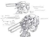 Drawing Ideas Guns Electrostatic Cannon Turret by Tugodoomer Deviantart Com On