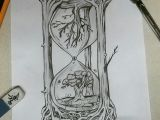 Drawing Ideas In Pen Creative Hourglass Drawing My Artwork In 2019 Drawings