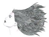 Drawing Ideas In Pen Pencil and Pen Drawing Art Print Windy Day Art D Pinterest
