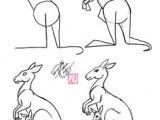Drawing Ideas Kangaroo 36 Best Kangaroos Images Drawings Kangaroo Drawing Character Design