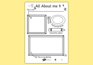 Drawing Ideas Ks1 All About Me Colouring and Drawing Worksheet Esl Resources