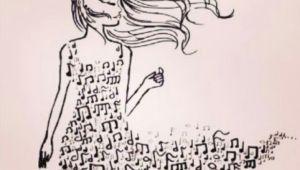 Drawing Ideas Notes Mooie Muziek Jurk Ook Leuk Om Te Tekenen Drawing Ideas In 2019
