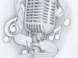 Drawing Ideas Notes Music Note Tattoo Drawing Designs Mic with Notes by Akadrowzy