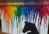 Drawing Ideas Using Crayons Horse Silhouette Melting Crayon Art Mckenna Pinterest Crayon