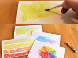 Drawing Ideas Using Crayons Watercolor Cards Write or Draw with A White Crayon then Put On the